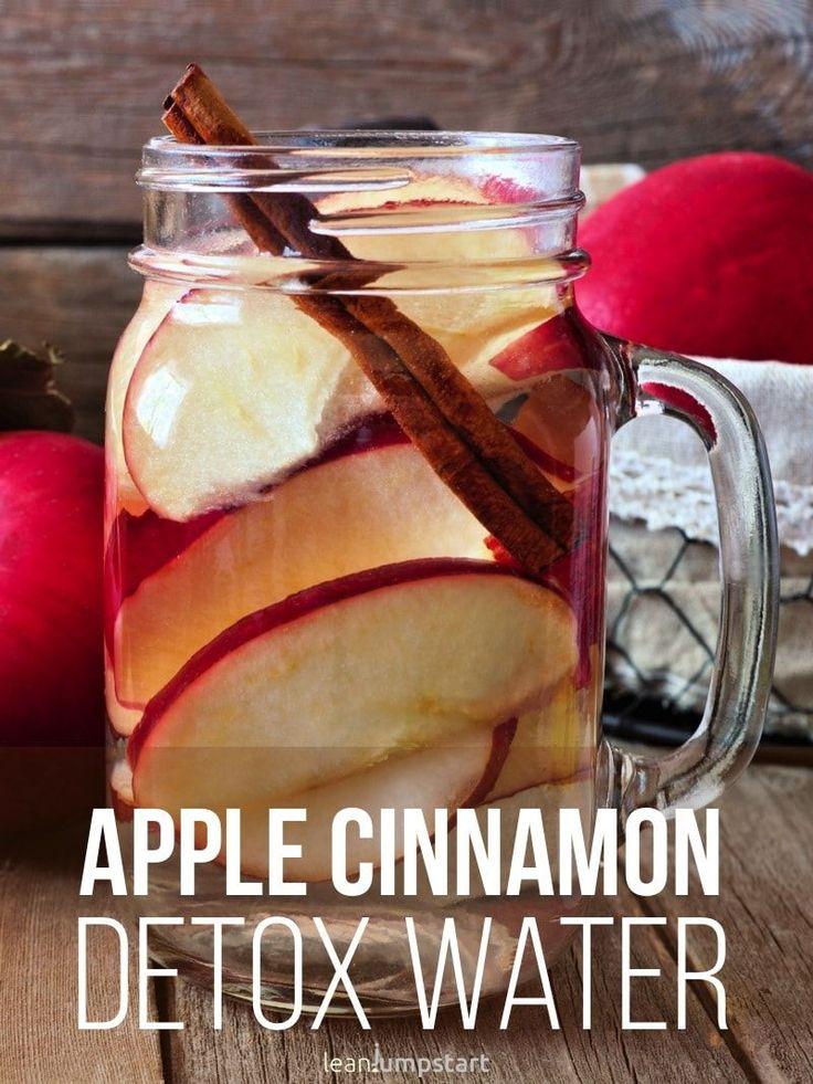 apple cinnamon drink: a delicious detox water