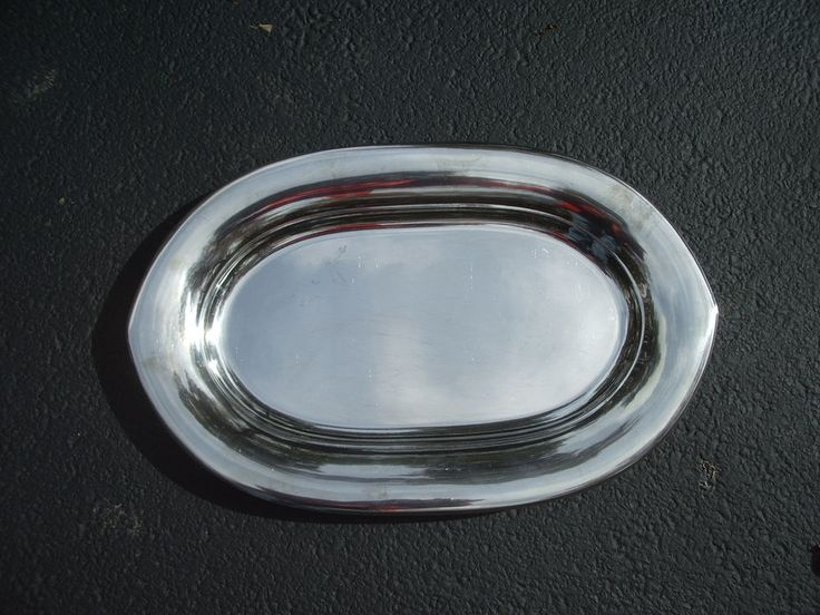 """Farberware Stainless Steel Serving Tray Platter Oval Pointed Ends Large 20"""" #Farberware"""