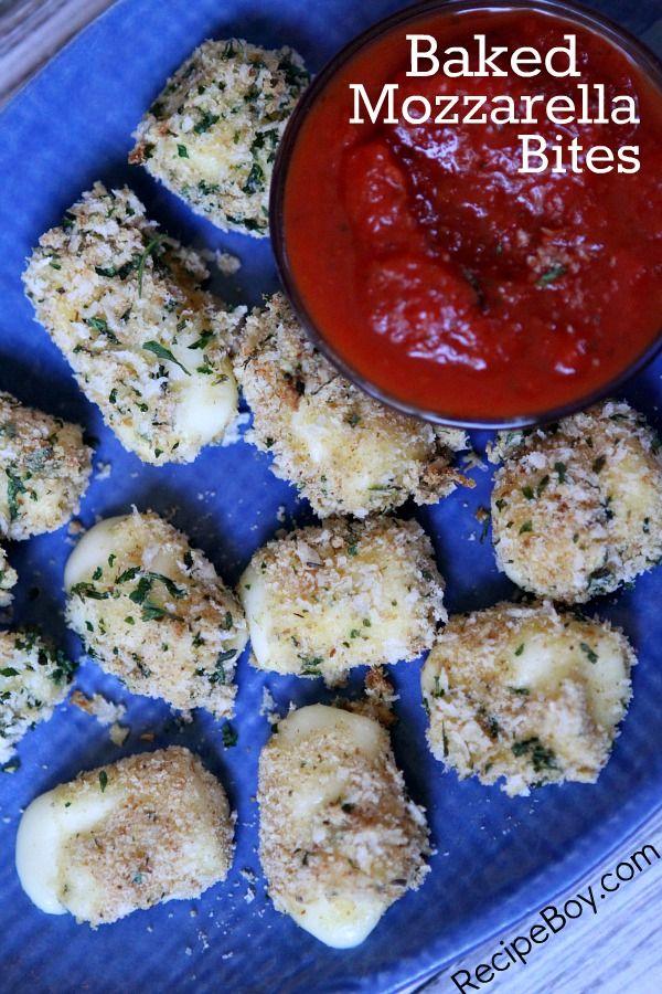 Baked Mozzarella Bites {Skinnytaste cookbook giveaway}