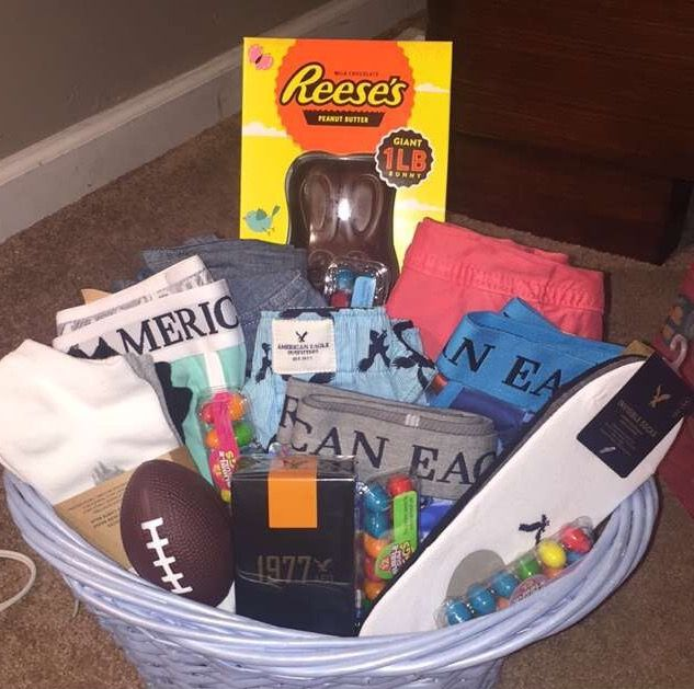 29 best easter images on pinterest easter gift ideas and boyfriends easter basket for teen boys negle Images