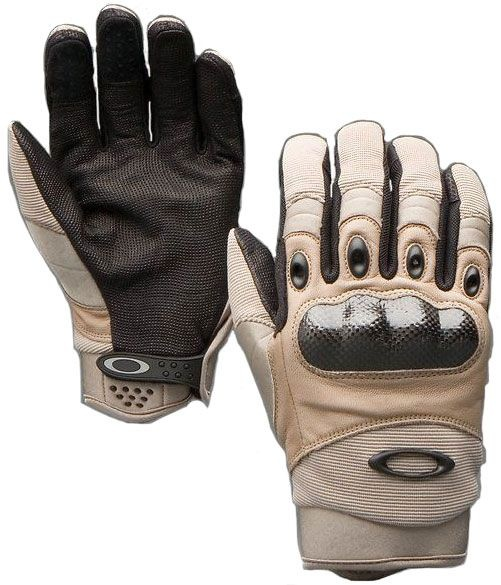 """Nothing says """"video game combat experience"""" like Oakley Factory Pilot gloves."""