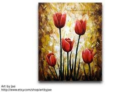 red tulip painting - Google Search