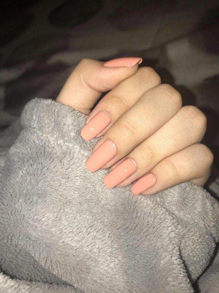 Peachy nails ���� #neutralnail #peachnails
