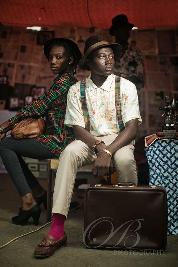 Afro District with their vintage style at Chale Wote 2014. Picture by Ben Bond, Ghana