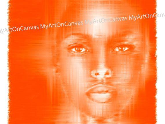 African Girl Portrait Painting Printed in HD on di MyArtOnCanvas