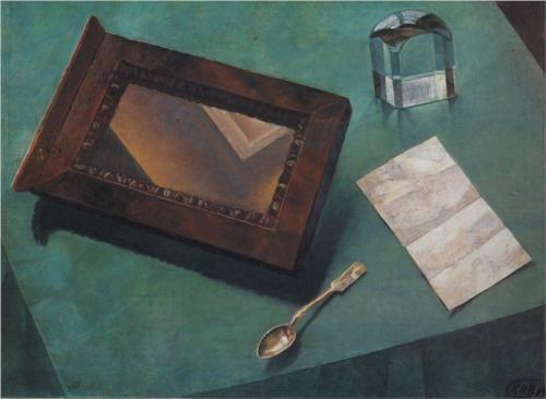 Still Life with Mirror - Kuzma Petrov-Vodkin
