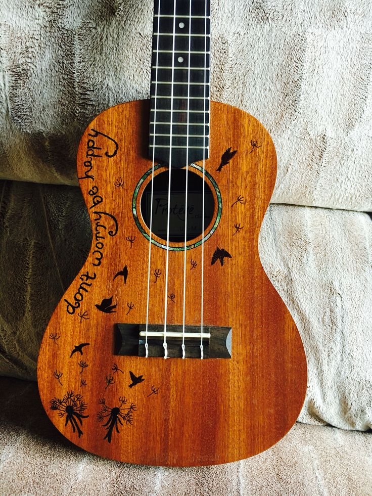 Ukulele design with sharpie