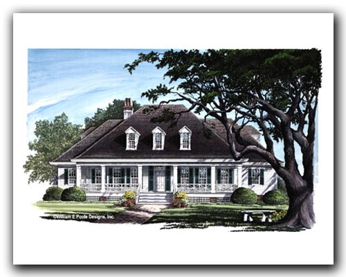 Bayou cottage designed by william e poole stothart for Bayou cottage house plan