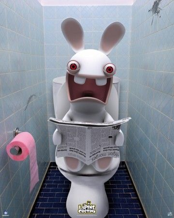 Raving Rabbids poster Toilets http://www.abystyle-studio.com/en/raving-rabbids-posters/249-raving-rabbids-poster-toilets.html