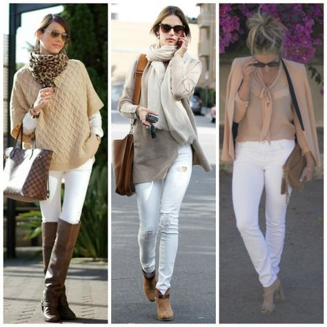 Amici moda post calça branca inverno