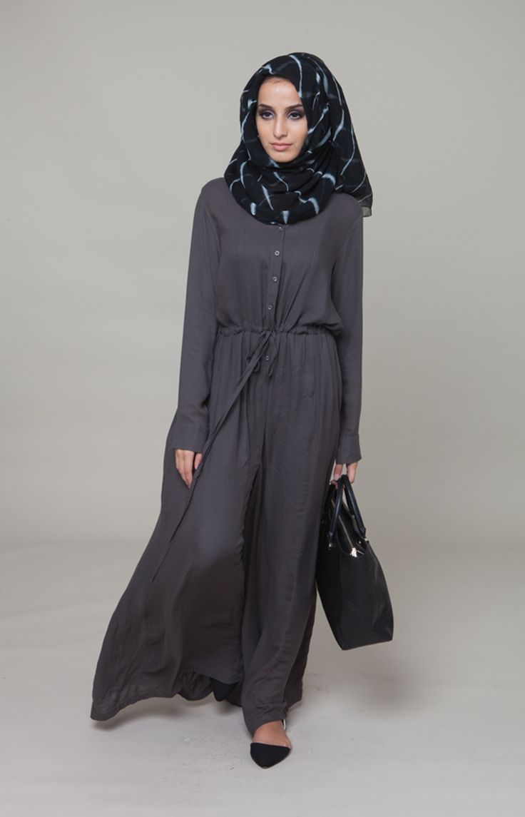Charcoal Jumpsuit #Aab #WhatsNew #NewArrivals #Hijab #Jumpsuit #Charcoal #Modest #Womenswear #Fashion #Style