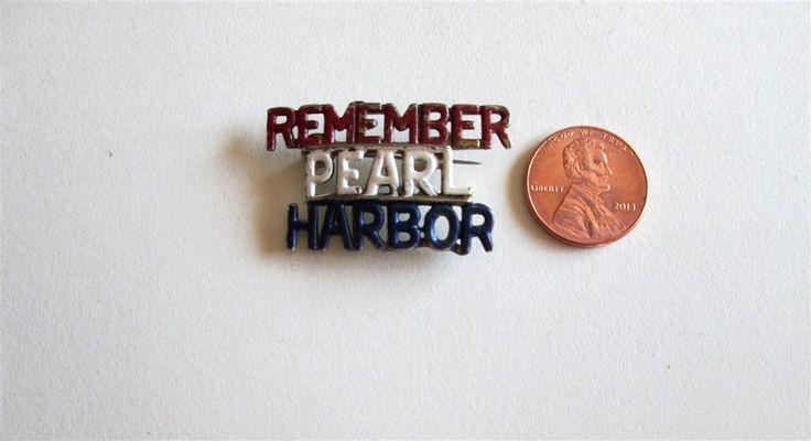 Original WW II Remember Pear Harbor Sweetheart Pin, Badge,Brooch