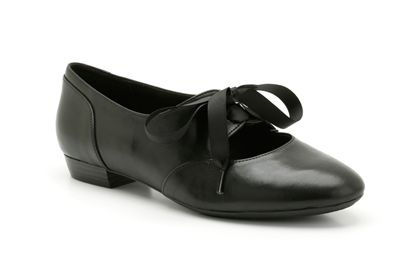 """EXPIRED """"Cavier Toast"""" Black Leather. Clarks shoes. £44.99"""