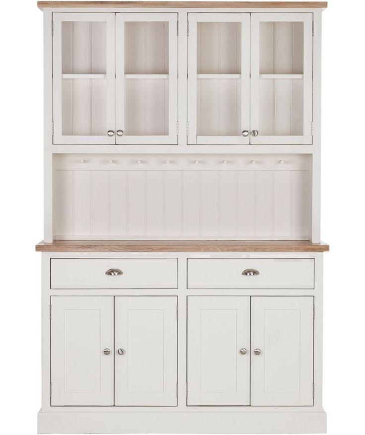Buy schreiber lulworth display cabinet natural at argos for Argos kitchen cabinets