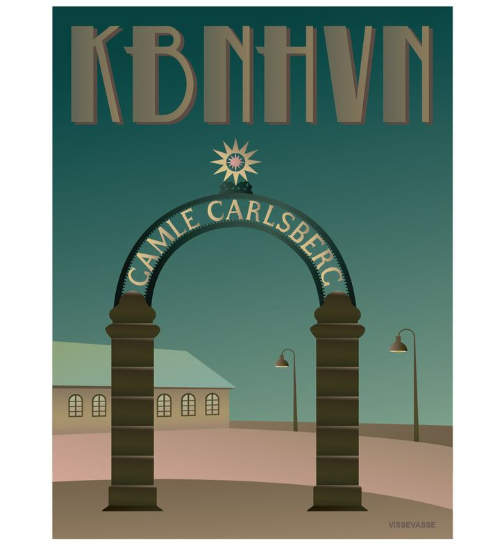 The old gate to Carlsberg. You can buy this piece at www.artrebels.com #artrebels #art #vissevasse