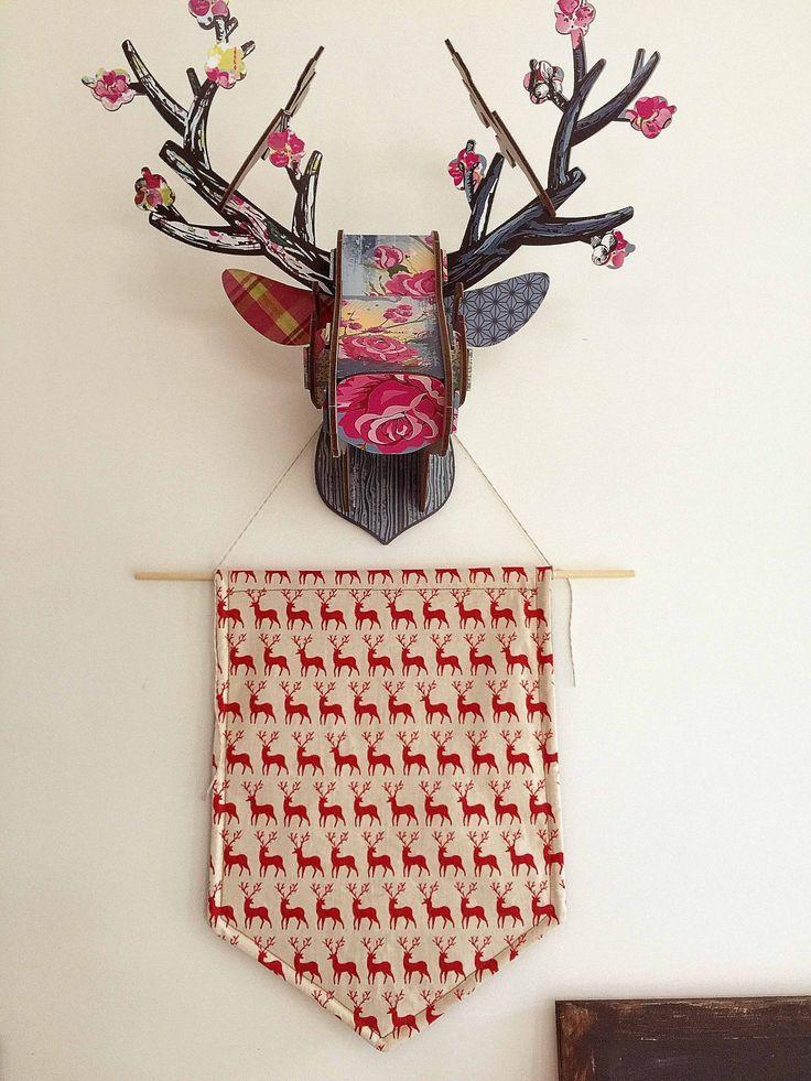 Christmas Reindeer Pennant Flag