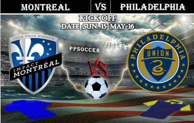 Montreal Impact vs Philadelphia 15.05.2016 Free Soccer Predictions, head to head, preview, predictions score, predictions under/over USA MLS