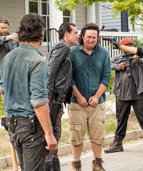 """ Negan, Eugene and Rick in The Walking Dead Season 7 Episode 8 