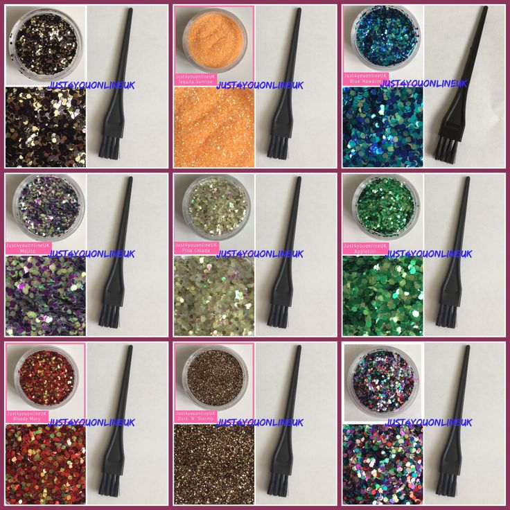 Details about Hair gel glitter roots parting beards festival eyebrows makeup brush Mermaid Kit
