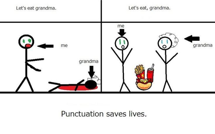 punctuation saves lives   quotables   Pinterest