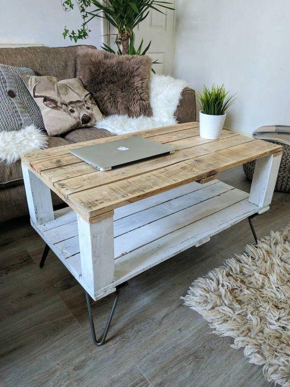 Reclaimed Pallet Coffee Table Ahvima In Farmhouse Style Boho