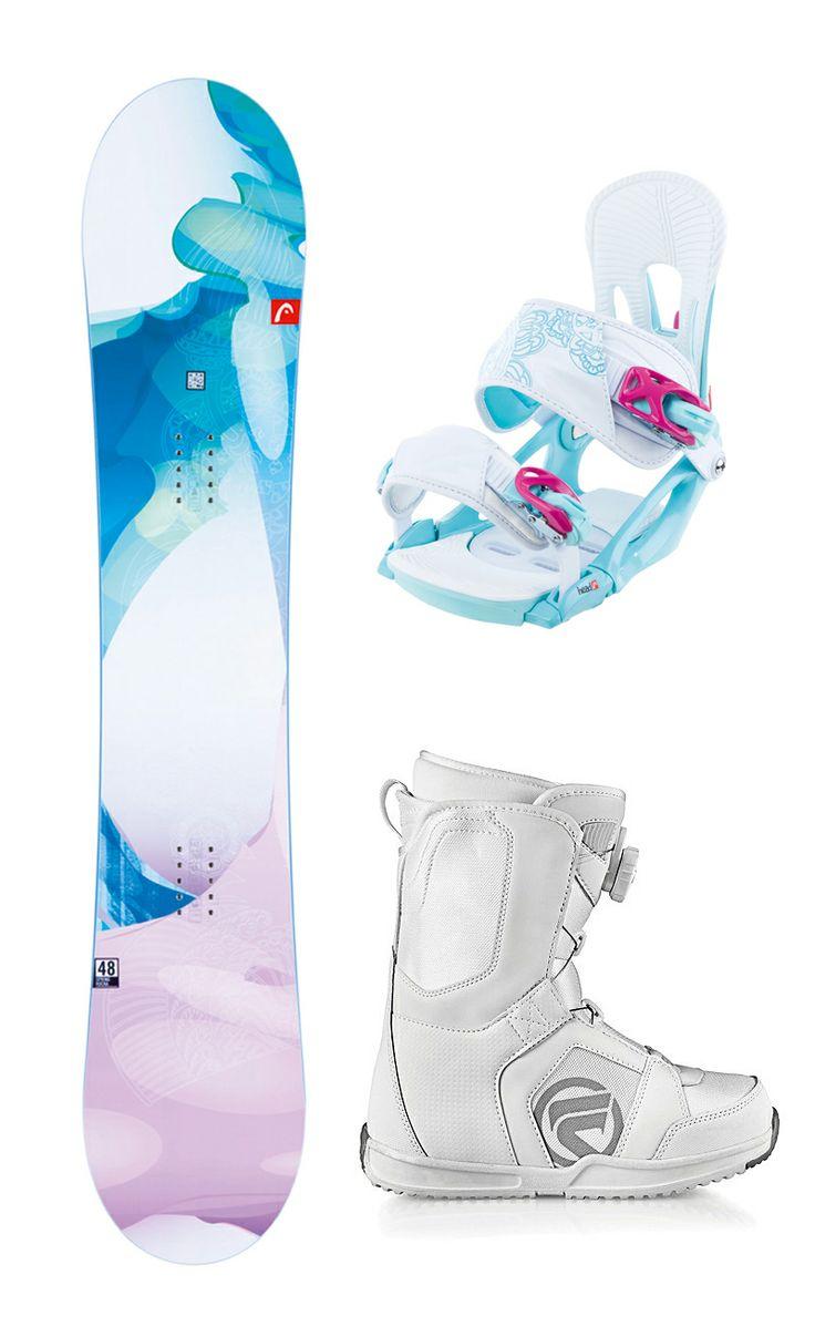 2013 Head Spring Rocka Womens Snowboard+Bindings+Flow Vega BOA Boots NEW