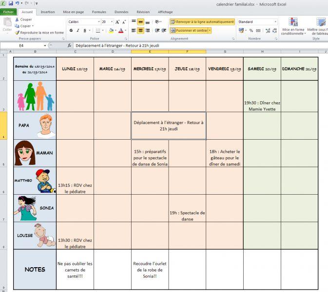 Mod 232 Le De Calendrier Familial D Une Famille Pour Windows