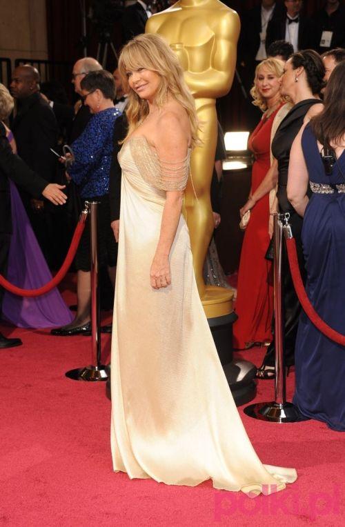 Oscary 2014: Goldie Hawn. Taka suknia z pewnością nadaje się na ślub dla tych z nas, które cenią sobie elegancję i dyskretny urok... :)