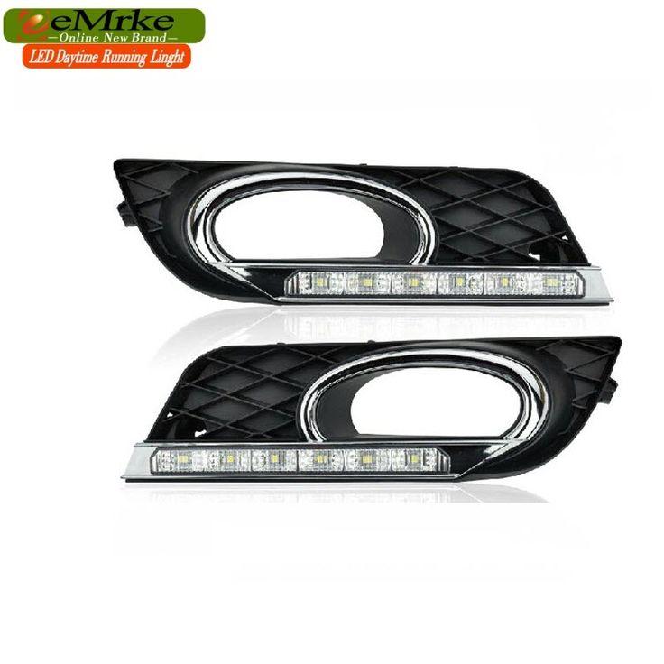 128.00$  Buy here - http://alib1v.worldwells.pw/go.php?t=32648511699 - eeMrke Car LED DRL For Honda Civic 2011 2012 2013 High Power Xenon White Fog Cover Daytime Running Lights Kits