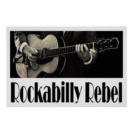 Rockabilly Rebel 36 x 24 Poster