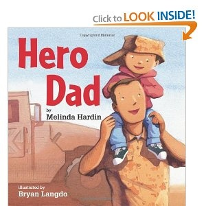 Read this book to your FRG kids. The story is narrated by a small boy who explains how his Soldier dad is a hero. Love it! #FRG