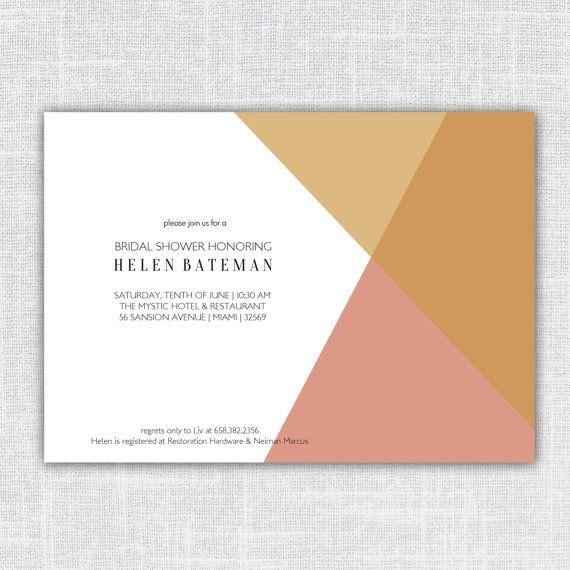 Helen Modern Geometric Bridal Shower Invitation Baby by BeanPress, $15.00