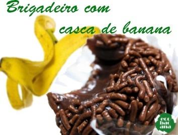 Que tal fazer uma receita de brigadeiro diferente?  Mais sustentável e nutritiva! Adicionando casca de banana, você acrescenta vitamina C, potássio e fibras. Olha a receita lá no blog: http://www.ecobacana.com.br/2013/05/receita-ecobacana-Brigadeiro-de-Casca-de-Banana.html