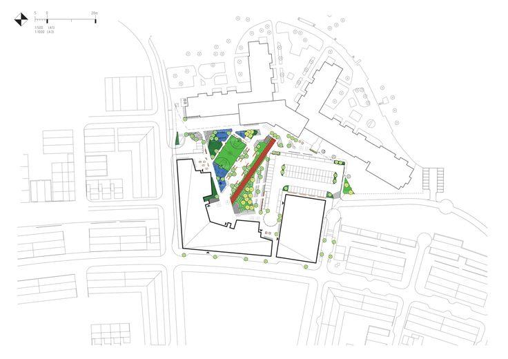 Image 17 of 17 from gallery of Kollaskolan School / Kjellgren Kaminsky Architecture. Site Plan
