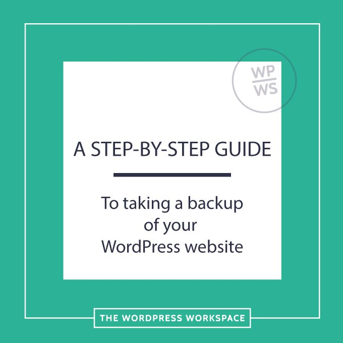 A guide to taking a backup of your WordPress website