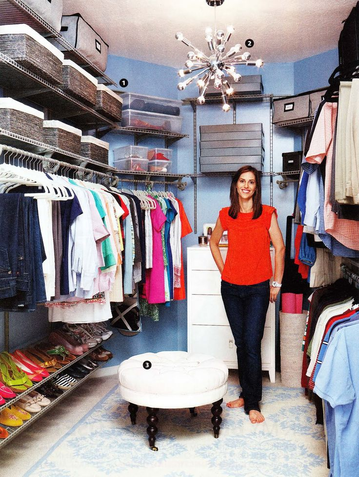 Walk-in closet makeover as shown in Real Simple Magazine #closet #dressing_room #organization