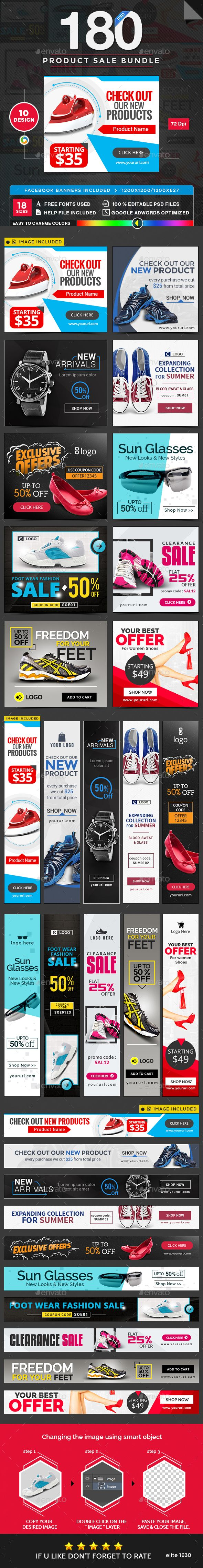 Product Sale Banners Bundle - 10 Sets - 180 Banners Templates PSD. Download here: http://graphicriver.net/item/product-sale-banners-bundle-10-sets-180-banners/16936118?ref=ksioks