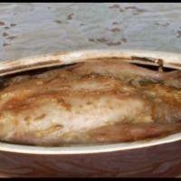 Курица, запеченная в горшочке в горчичном соусе, видео рецепт