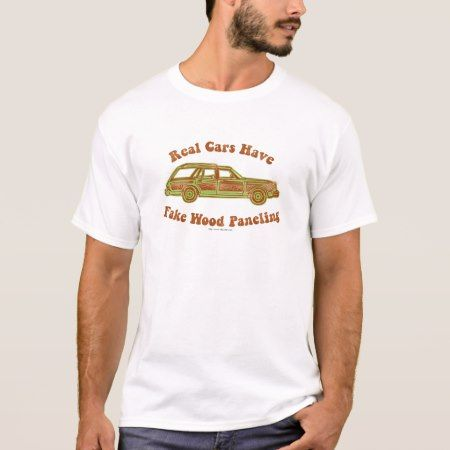 Fake Wood Paneling T-Shirt - tap, personalize, buy right now!