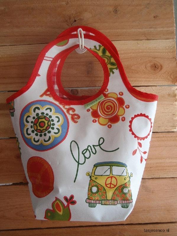 supergave tas gemaakt van tafelzeil.