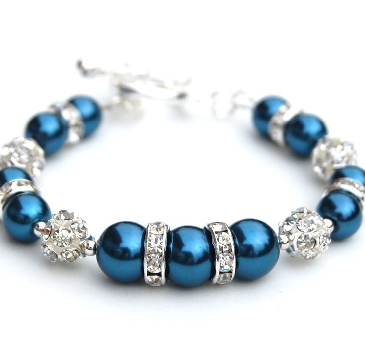 Montana+Blue+Bling+Pearl+Bracelet+Sparkling+Beaded+by+AMIdesigns,+$24.00