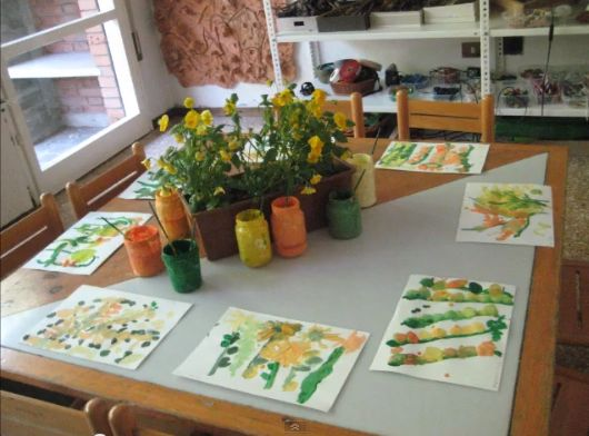Painting Provocation: A collection of pictures captured during two different CMU Study Abroad trips to Reggio Emilia, Italy ≈ ≈ For more inspiring pins http://pinterest.com/kinderooacademy/reggio-inspired/