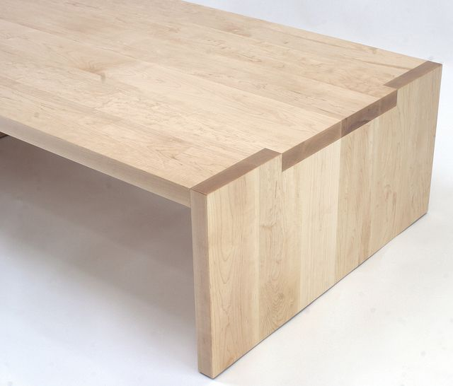 547 img 1573e solid maple coffee table with notch for Custom made furniture san francisco