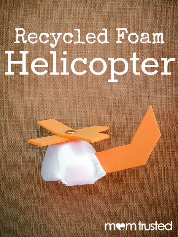 Egg Carton Craft - Recycled Foam Helicopter