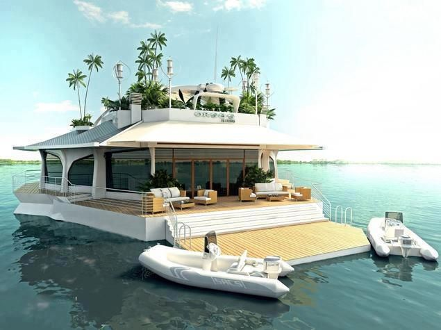 that's a real beach house....Floating Islands, Private Island, Floating House, Dreams Home, Lakes House, Beach House, Houseboats, Dreams House, Pontoon Boats