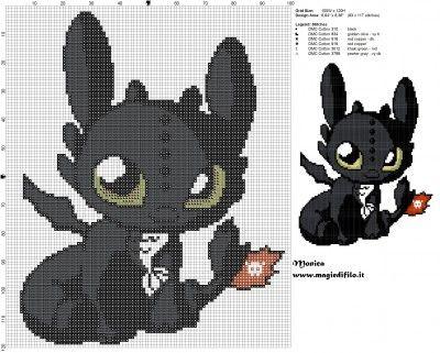 Schema punto croce chibi Sdentato (Dragon Trainer) 100x120 6 colori.jpg (2.88 MB) Osservato 232 volte