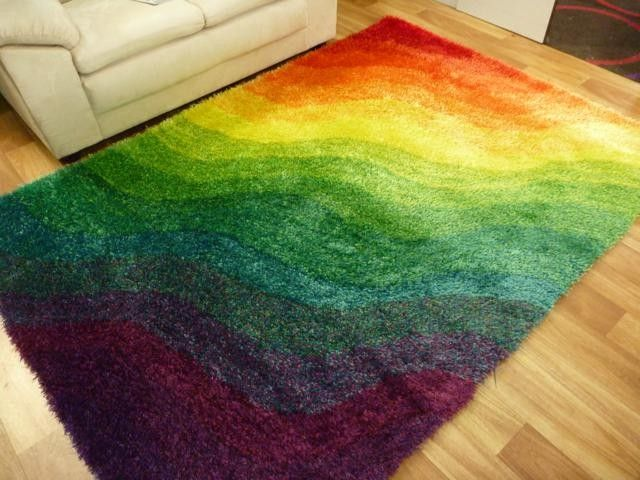 Flash Wave Multi Coloured Rug Soft Shaggy With Bright Vibrant Colours Just Gotta Love It Www Termats Com Au Pinterest