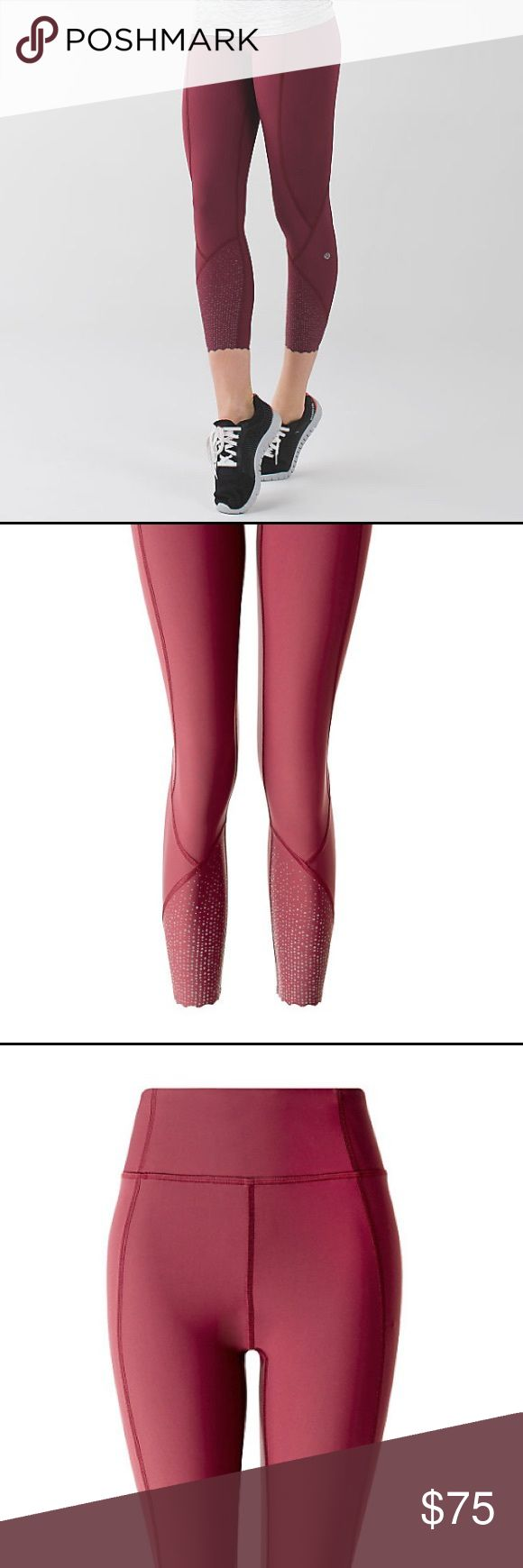 Lululemon Tight Stuff Tights Super cute pants with reflective bottoms. Worn a couple times.... just the tight fit is not for me. They are a burgundy/wine color.               https://shop.lululemon.com/p/women-pants/Tight-Stuff-Tight-II/_/prod8260099?skuId=3714507&color=LW5LK3S_023188&locale=en_US&sl=US&CAWELAID=120278590000067652&CID=Google:US122818&sl=US&locale=en_US&gclid=CjwKEAiAs_PCBRD5nIun9cyu01kSJAA-WD-rx9Nhe9I3ZYv8QnB3IuNf6KVp9fxCgdd9KC1QeF0tyxoCzR3w_wcB lululemon athletica Pants…