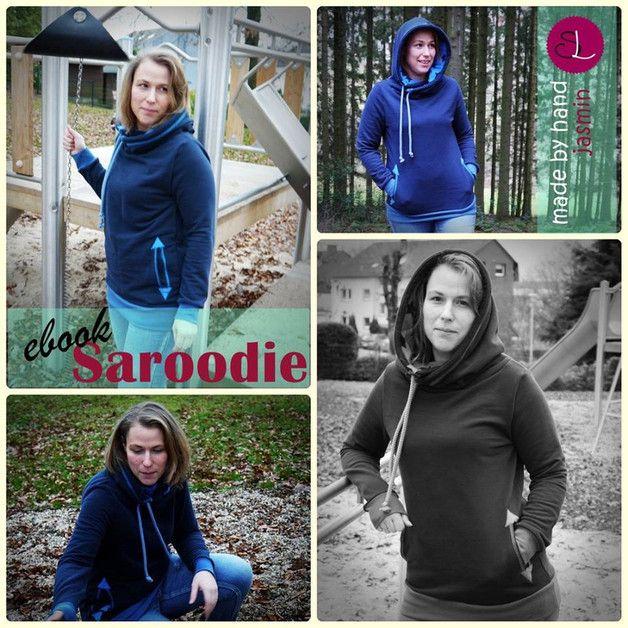 Saroodie - der neue wandelbare Sweatshirt-Schnitt für uns Großen! ♥  ★ Das Schnittmuster Saroodie gibt es in den Größen XS/S bis zu 4XL(Gr54). ★ 4 verschiedene Kragen zur Auswahl, die sogar...