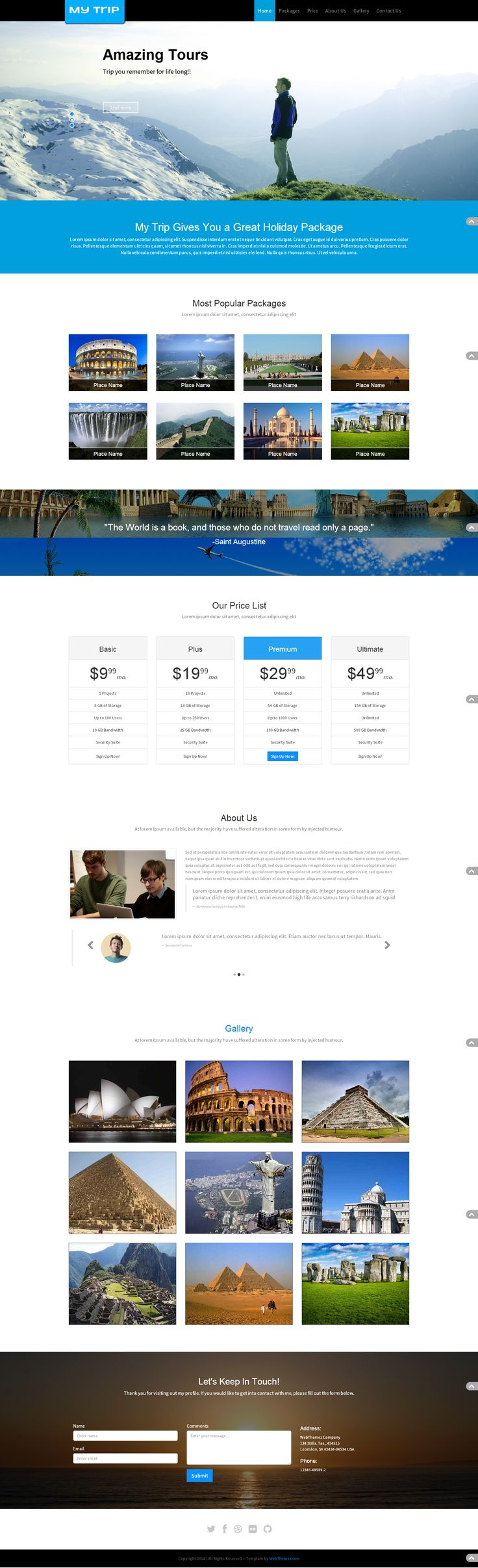 Travel company template built with #bootstrap framework v.3.1.1. html5 and css3 based template its contain css3 animation. Its easy to customize and documentation for template included in it. Minimal, ,modern, responsive, multipurpose #HTML5/CSS3 #template. #website #travellagency #travell